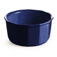 Tablecraft CW1790BS 2.5 Qt. Blue Speckle Cast Aluminum Prism Bowl
