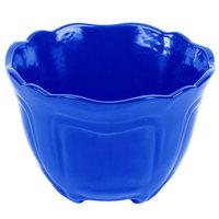 Tablecraft CW1454BL 1.3 Qt. Cobalt Blue Cast Aluminum Round Condiment Bowl