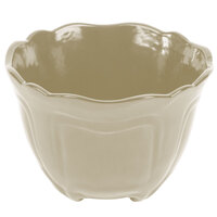 Tablecraft CW1454IV 1.3 Qt. Ivory Cast Aluminum Round Condiment Bowl
