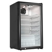 Cecilware CTR3.75 Black Countertop Display Refrigerator with Swing Door - 3.8 cu. ft.