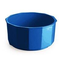 Tablecraft CW1800BL 4.5 Qt. Cobalt Blue Cast Aluminum Prism Bowl