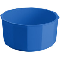 Tablecraft CW1810BL 8.5 Qt. Cobalt Blue Cast Aluminum Prism Bowl