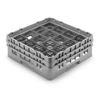 Cambro 16S958-151 Camrack 10 1/8 inch High Gray 16 Compartment Glass Rack