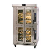 Doyon CAOP6G Double Deck Circle Air Gas Oven Proofer Combo with Rotating Racks - 78,500 BTU
