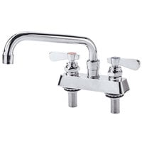 Deck Mount Faucet with 4 inch Centers and 8 inch Swing Nozzle