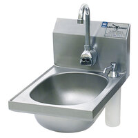 Eagle Group HSAN-10-FE-B-DS Hand Sink with Gooseneck Faucet, Soap Dispenser, and Basket Drain