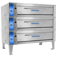 Bakers Pride ER-3-12-5736 74 inch Triple Deck Electric Roast / Bake Oven - 208V, 3 Phase