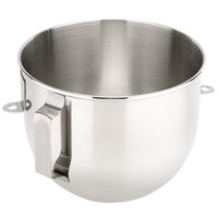 KitchenAid K5ASBP Stainless Steel 5 qt. Mixing Bowl with Handle for Stand Mixers