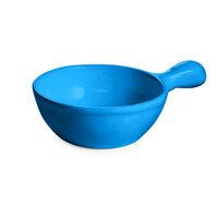 Tablecraft CW3375SBL 18 oz. Sky Blue Cast Aluminum Soup Bowl with Handle