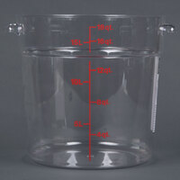 Cambro RFSCW18 Camwear 18 Qt. Clear Round Food Storage Container