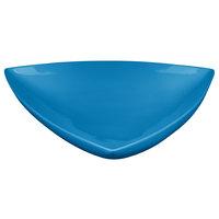 Tablecraft CW11006SBL 11 inch Sky Blue Cast Aluminum Triangle Display Bowl
