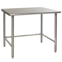 Eagle Group T2460GTB 24 inch x 60 inch Open Base Stainless Steel Commercial Work Table