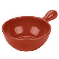 Tablecraft CW3370CP 8 oz. Copper Cast Aluminum Soup Bowl with Handle