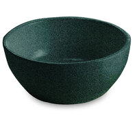 Tablecraft CW11082HGNS 10.5 oz. Hunter Green with White Speckle Cast Aluminum Small Round Display Bowl