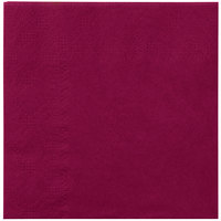 Hoffmaster 180324 Burgundy Beverage / Cocktail Napkin - 1000 / Case