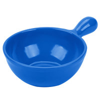Tablecraft CW3370BL 8 oz. Cobalt Blue Cast Aluminum Soup Bowl with Handle