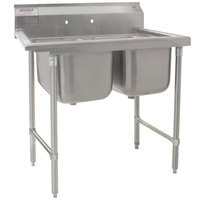 Eagle Group 414-16-2 Two 16 inch Bowl Stainless Steel Commercial Compartment Sink