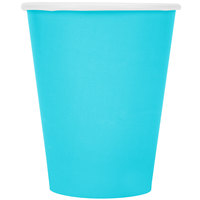 Creative Converting 561039B 9 oz. Bermuda Blue Poly Paper Hot / Cold Cup - 240/Case