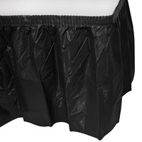 Creative Converting 10012 14' x 29 inch Black Velvet Plastic Table Skirt