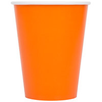 Creative Converting 56191B 9 oz. Sunkissed Orange Poly Paper Hot / Cold Cup - 240 / Case