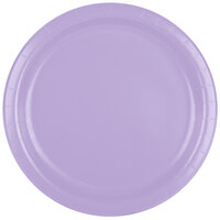 Creative Converting 47193B 9 inch Luscious Lavender Paper Dinner Plate - 240/Case