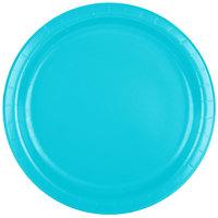 Creative Converting 471039B 9 inch Bermuda Blue Paper Dinner Plate - 240/Case