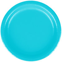 Creative Converting 791039B 7 inch Bermuda Blue Paper Lunch Plate - 240/Case