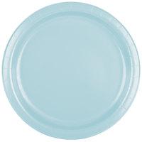 Creative Converting 47157B 9 inch Pastel Blue Paper Dinner Plate - 240/Case