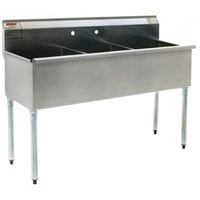 Eagle Group 2136-3-16/4 Three Compartment Stainless Steel Commercial Sink without Drainboard - 37 3/8 inch