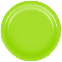 Creative Converting 793123B 7 inch Fresh Lime Green Paper Lunch Plate - 240/Case
