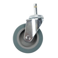 Choice 4 inch Swivel Caster for Bussing and Utility Carts