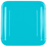 Creative Converting 463552 9 inch Bermuda Blue Square Paper Dinner Plate - 180/Case