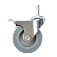 Choice 4 inch Swivel Caster with Lock for Bussing and Utility Carts