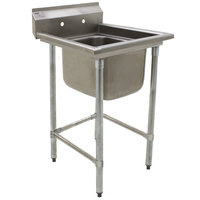 Eagle Group S14-20-1-SL One 20 inch x 20 inch Bowl Stainless Steel Fabricated Compartment Sink