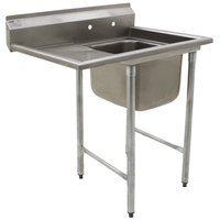 Eagle Group 414-18-1-18 One 18 inch Bowl Stainless Steel Commercial Compartment Sink with 18 inch Drainboard