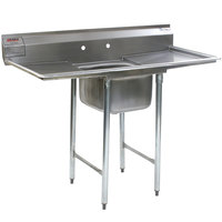 Eagle Group 314-24-1-24 31 3/4 inch x 74 inch One Bowl Stainless Steel Commercial Compartment Sink with Two Drainboards