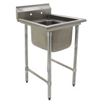 Eagle Group 412-24-1 31 3/4 inch x 31 1/2 inch One Bowl Stainless Steel Commercial Compartment Sink
