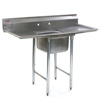Eagle Group 314-16-1-24 27 1/2 inch x 66 1/2 inch One Bowl Stainless Steel Commercial Compartment Sink with Two Drainboards