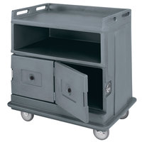 Cambro MDC24F191 Granite Gray Beverage Service Cart with 2 Doors - 44 1/2 inch x 30 inch x 44 inch