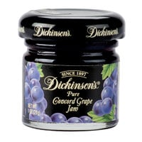 Dickinson's Pure Concord Grape Jam - (72) 1 oz. Glass Jars / Case