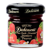 Dickinson's Pure Pacific Mountain Strawberry Fruit Preserves - (72) 1 oz. Glass Jars / Case