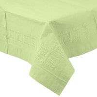 Creative Converting 713130 54 inch x 108 inch Pistachio Green Tissue / Poly Table Cover - 6/Case