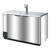 Beverage Air DD50-1-S-01 Stainless Steel Beer Dispenser 50 inch - 2 Keg Kegerator