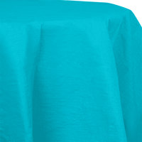 Creative Converting 923522 82 inch Bermuda Blue OctyRound Tissue / Poly Table Cover - 12 / Case