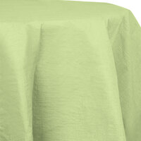 Creative Converting 923130 82 inch Pistachio OctyRound Tissue / Poly Table Cover - 12 / Case