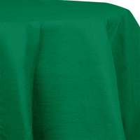 Creative Converting 923261 82 inch Emerald Green OctyRound Tissue / Poly Table Cover - 12 / Case