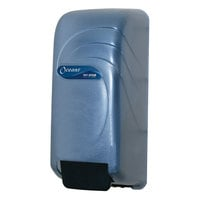 San Jamar S890TBL Oceans 800 ml Soap / Hand Sanitizer Dispenser - Arctic Blue