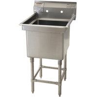 Eagle Group FN2016-1-14/3 One 20 inch x 16 inch Bowl Stainless Steel Spec-Master Commercial Compartment Sink