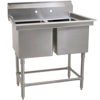 Eagle Group FN2032-2-14/3 Two 20 inch x 16 inch Bowl Stainless Steel Spec-Master Commercial Compartment Sink