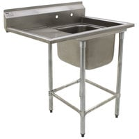 Eagle Group FN2020-1-24-14/3 One 20 inch x 20 inch Bowl Stainless Steel Spec-Master Commercial Compartment Sink with 24 inch Drainboard
